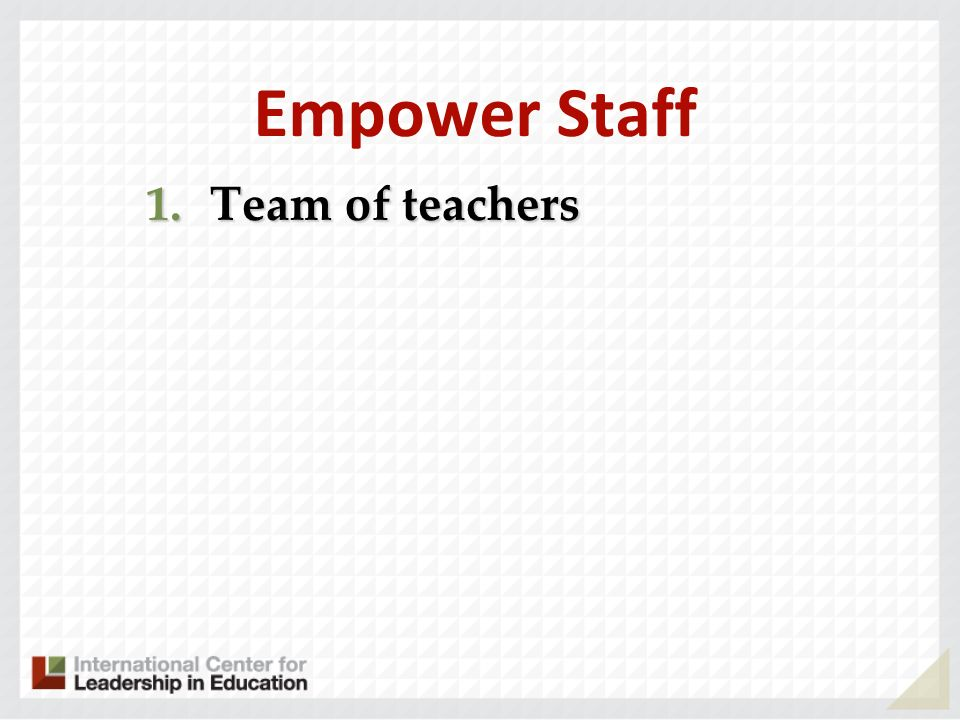 Empower Staff Team of teachers