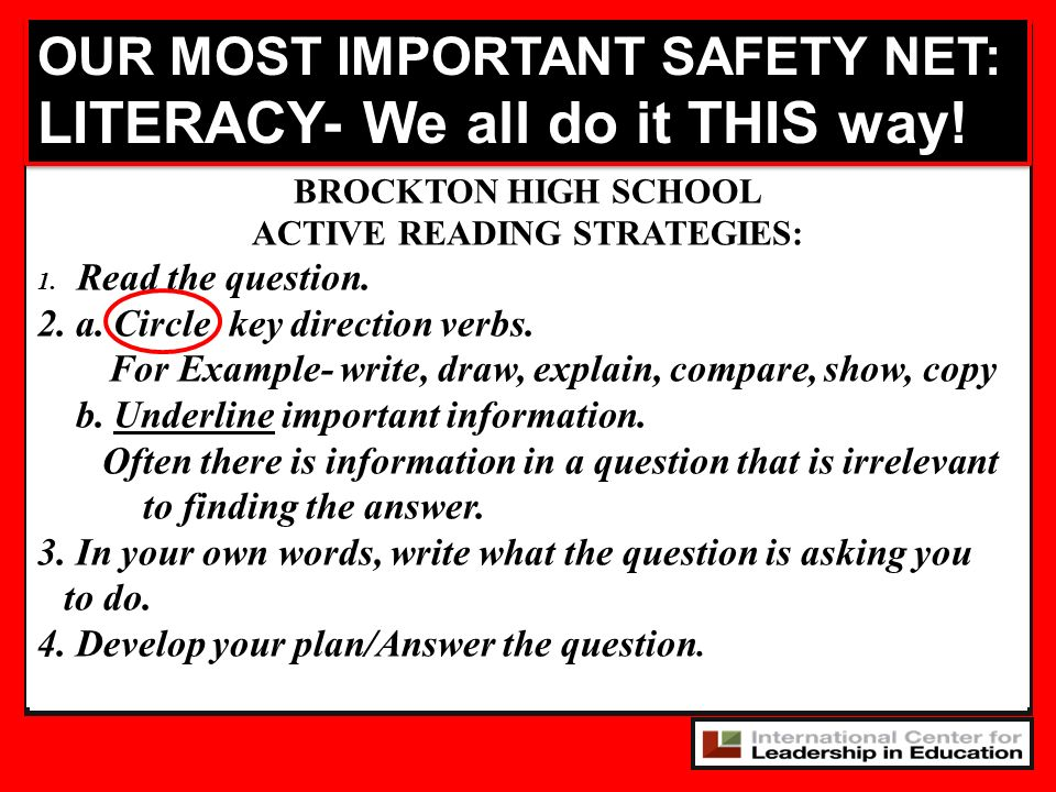 ACTIVE READING STRATEGIES: