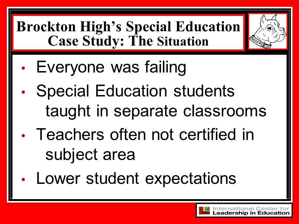 Brockton High's Special Education Case Study: The Situation