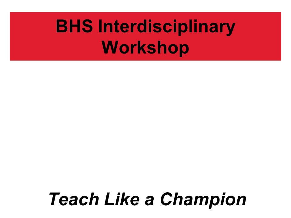 BHS Interdisciplinary Workshop