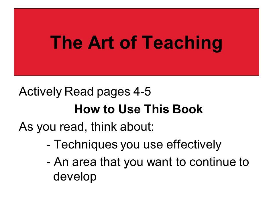 The Art of Teaching