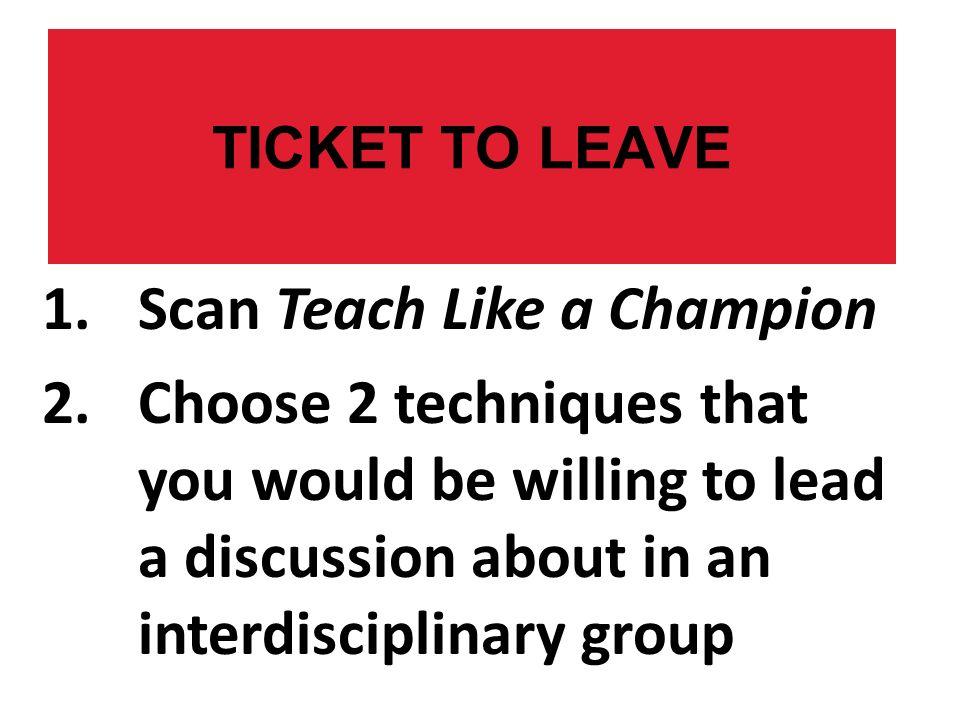 Scan Teach Like a Champion