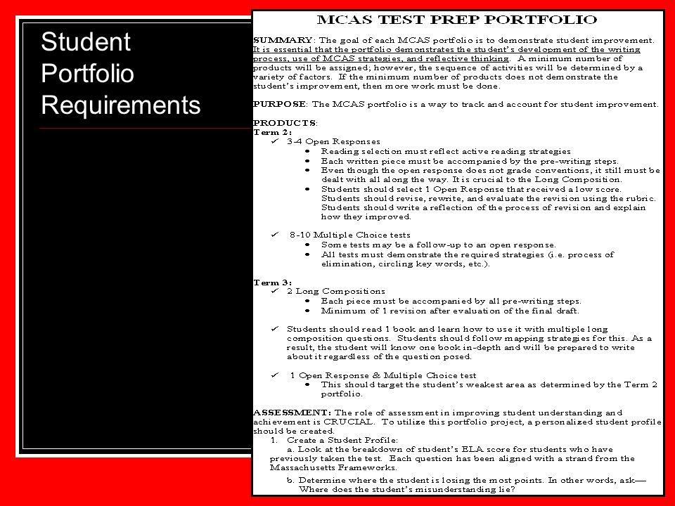Student Portfolio Requirements 59 59 59