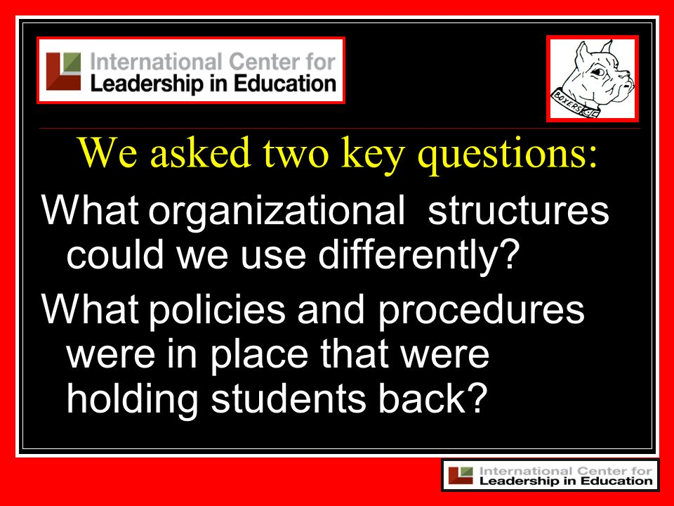 We asked two key questions: