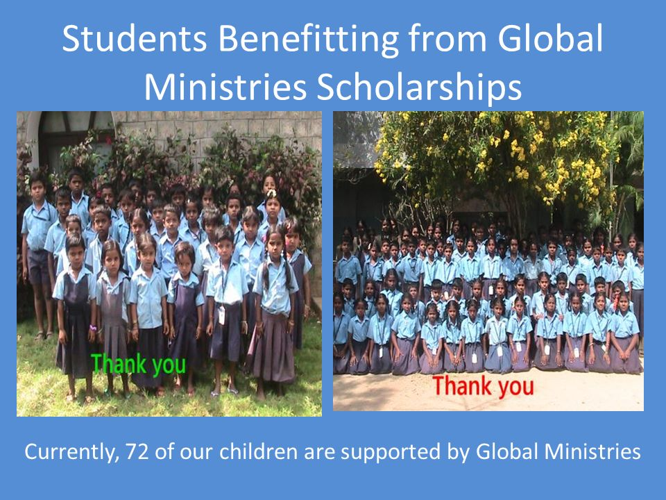 Students Benefitting from Global Ministries Scholarships