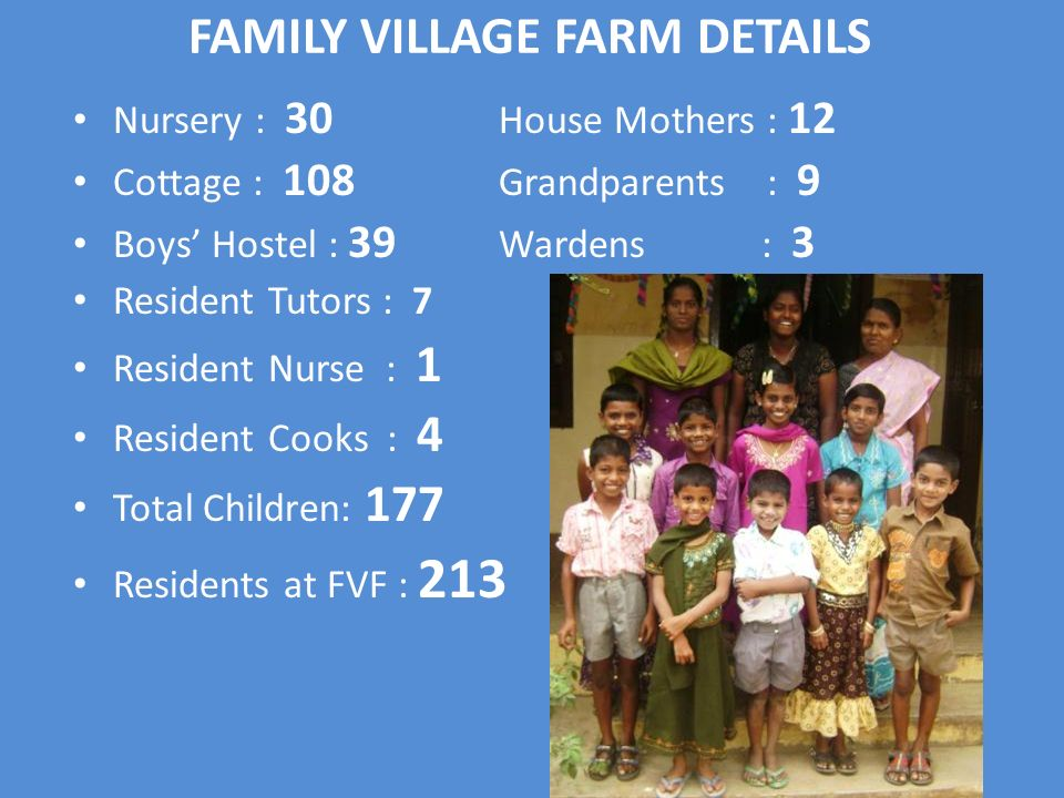 FAMILY VILLAGE FARM DETAILS