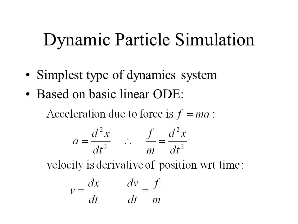 Dynamic Particle Simulation