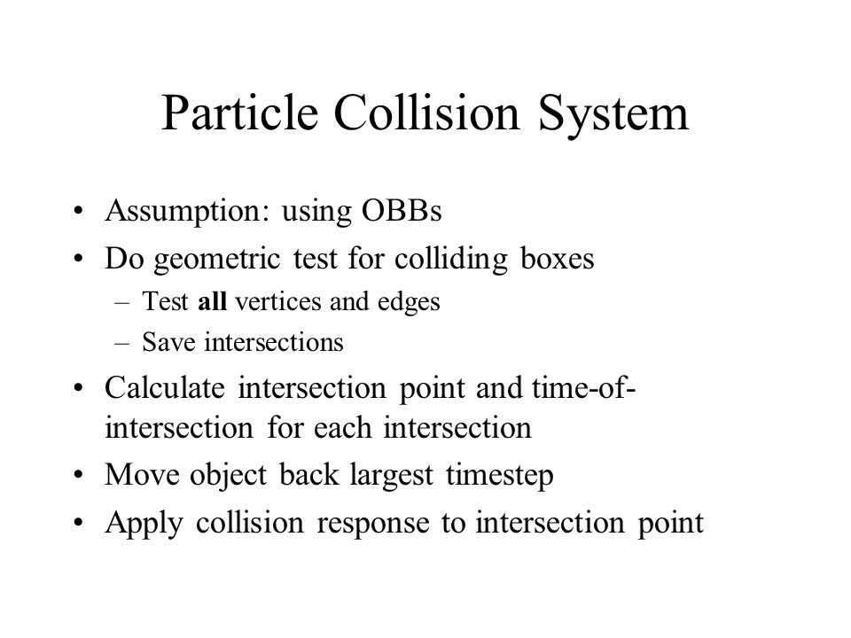 Particle Collision System