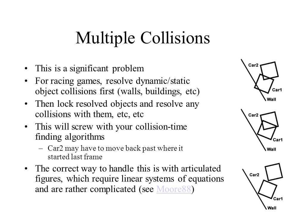 Multiple Collisions This is a significant problem