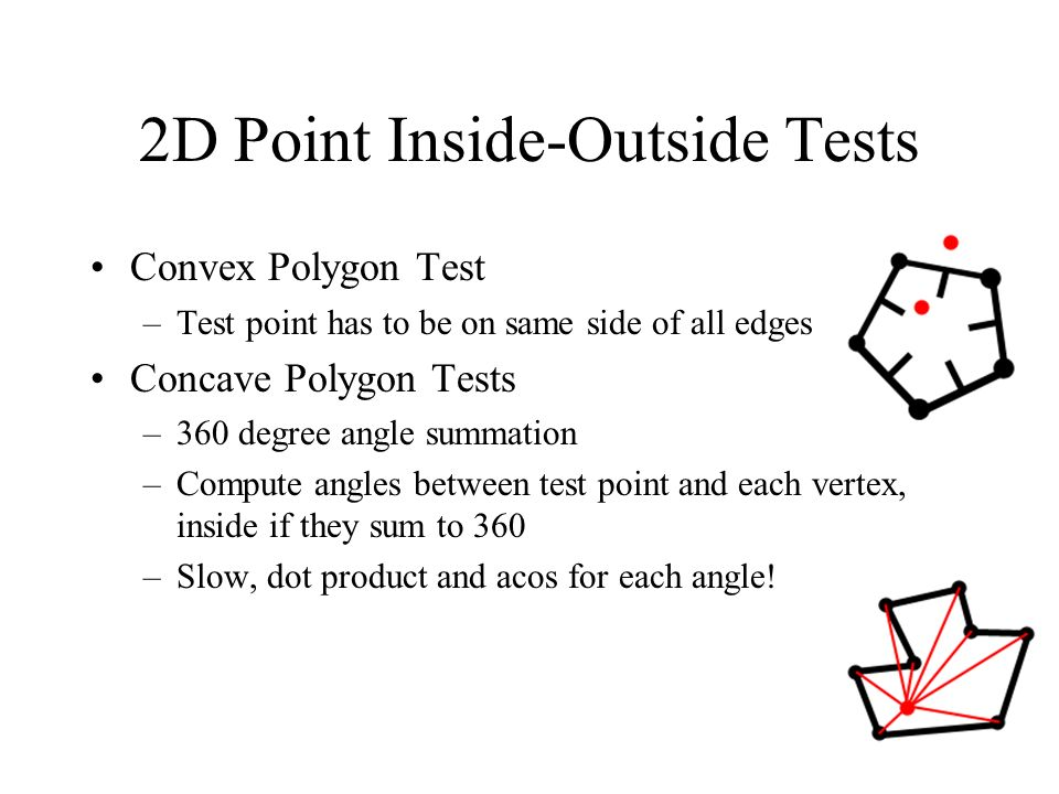 2D Point Inside-Outside Tests