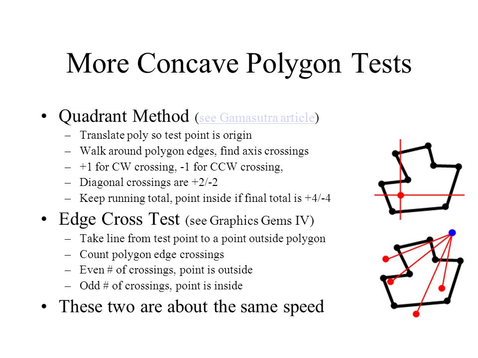 More Concave Polygon Tests