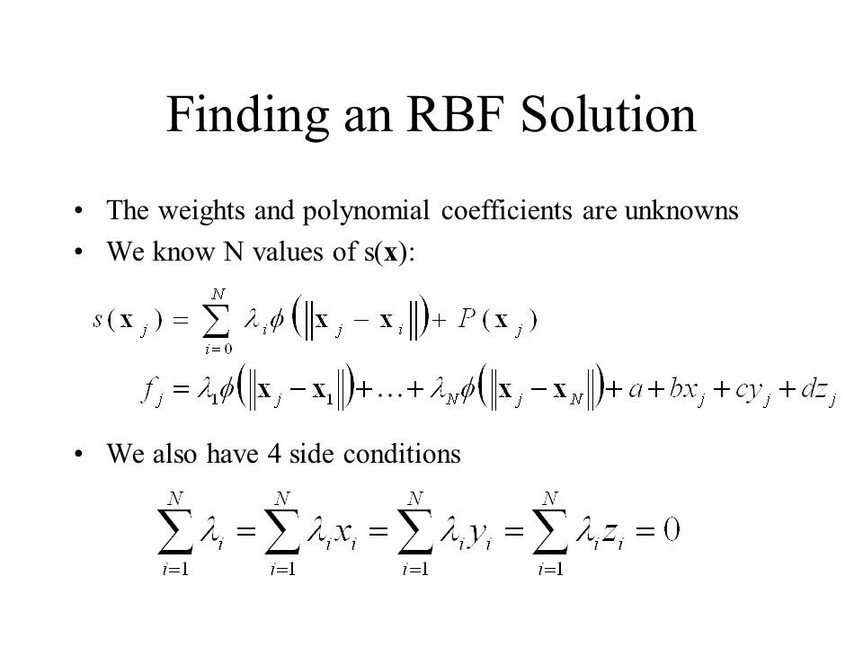 Finding an RBF Solution