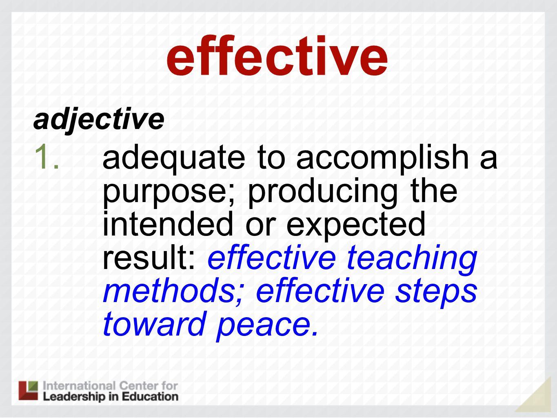effective adjective.