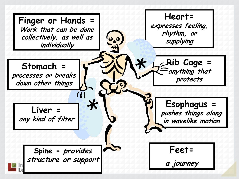 Heart= expresses feeling, rhythm, or supplying Finger or Hands =