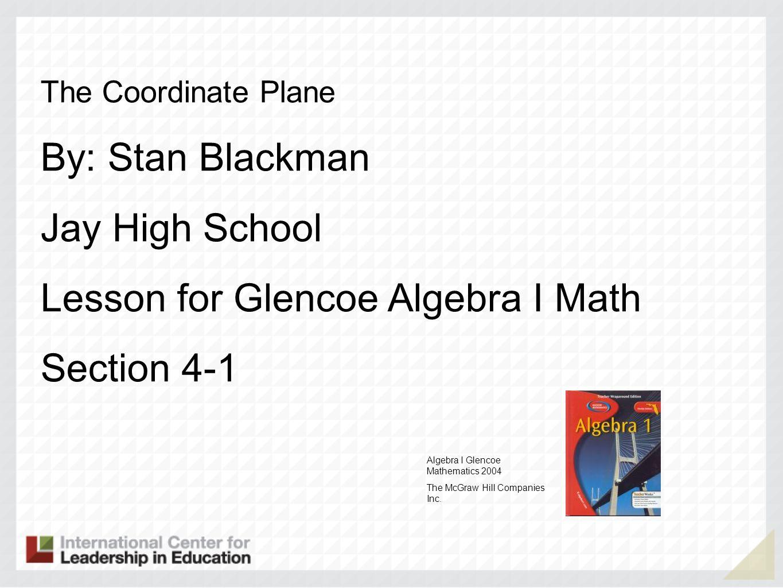 Lesson for Glencoe Algebra I Math Section 4-1