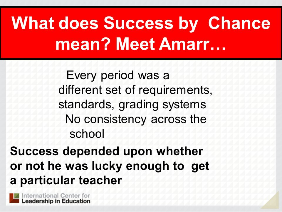 What does Success by Chance mean Meet Amarr…