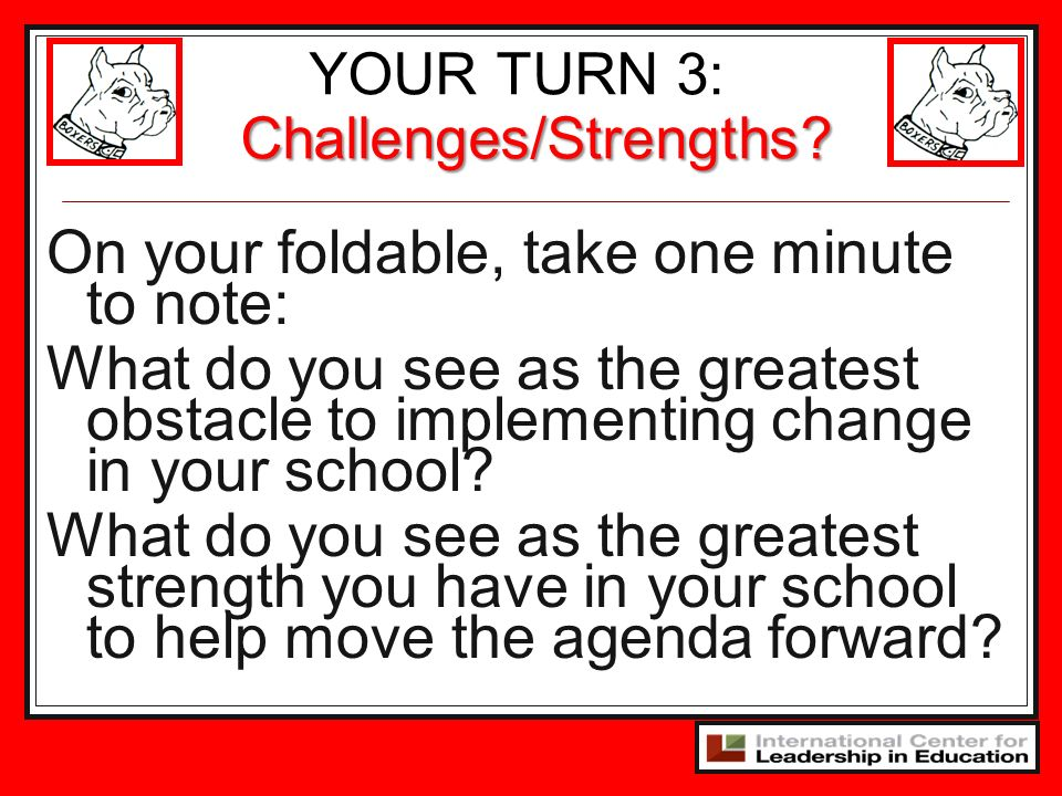 YOUR TURN 3: Challenges/Strengths