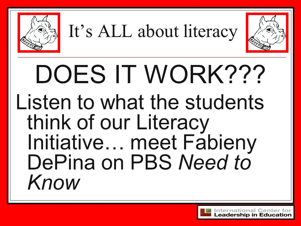 It's ALL about literacy