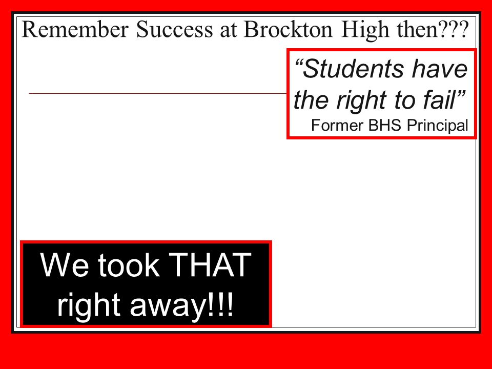 Remember Success at Brockton High then
