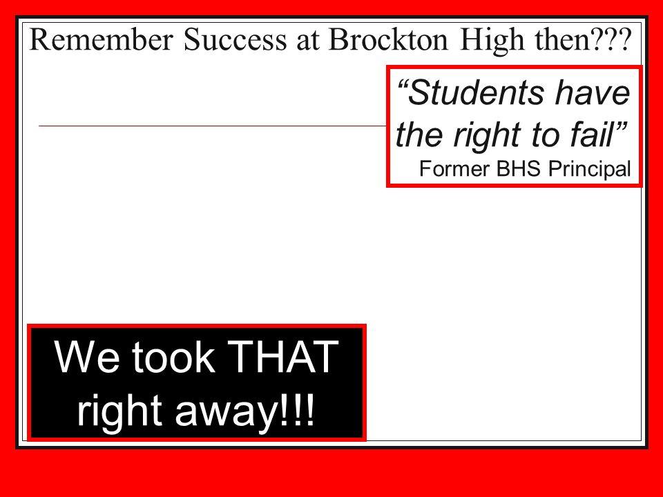 Remember Success at Brockton High then