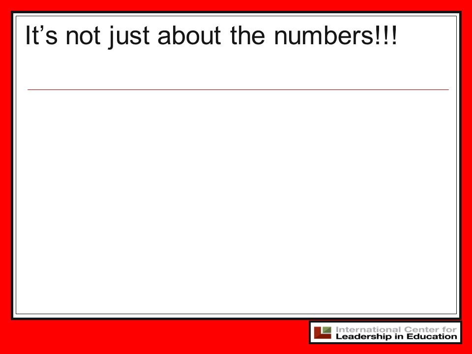 It's not just about the numbers!!!