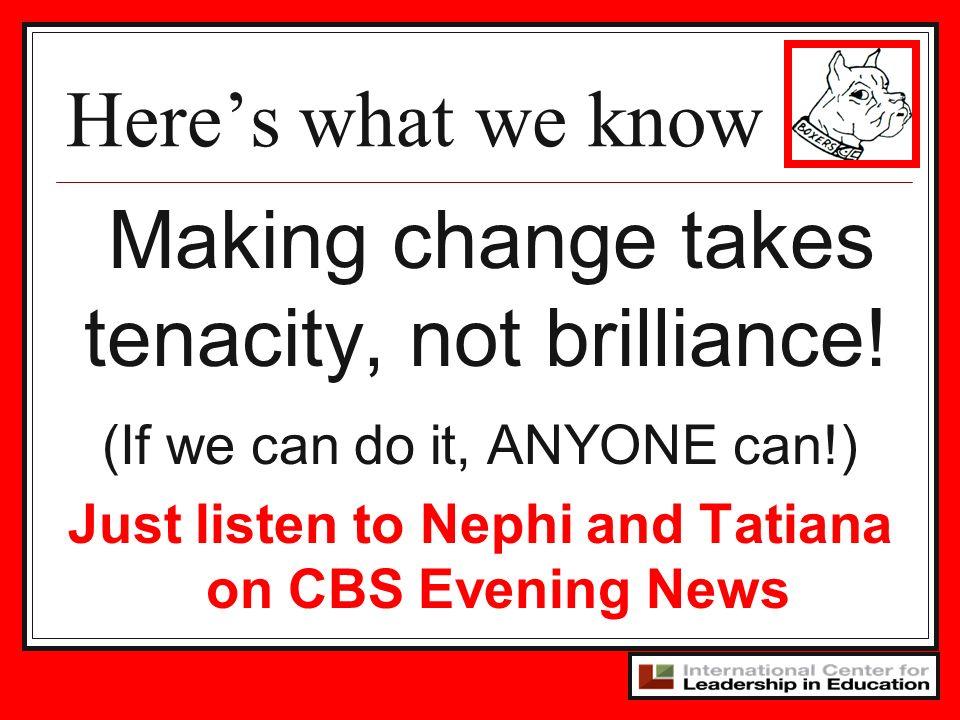 Just listen to Nephi and Tatiana on CBS Evening News