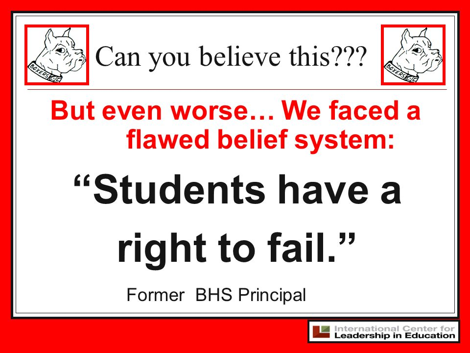 Students have a right to fail.