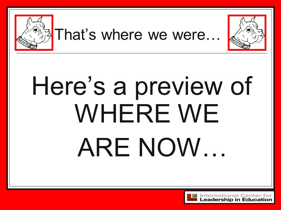 Here's a preview of WHERE WE ARE NOW…