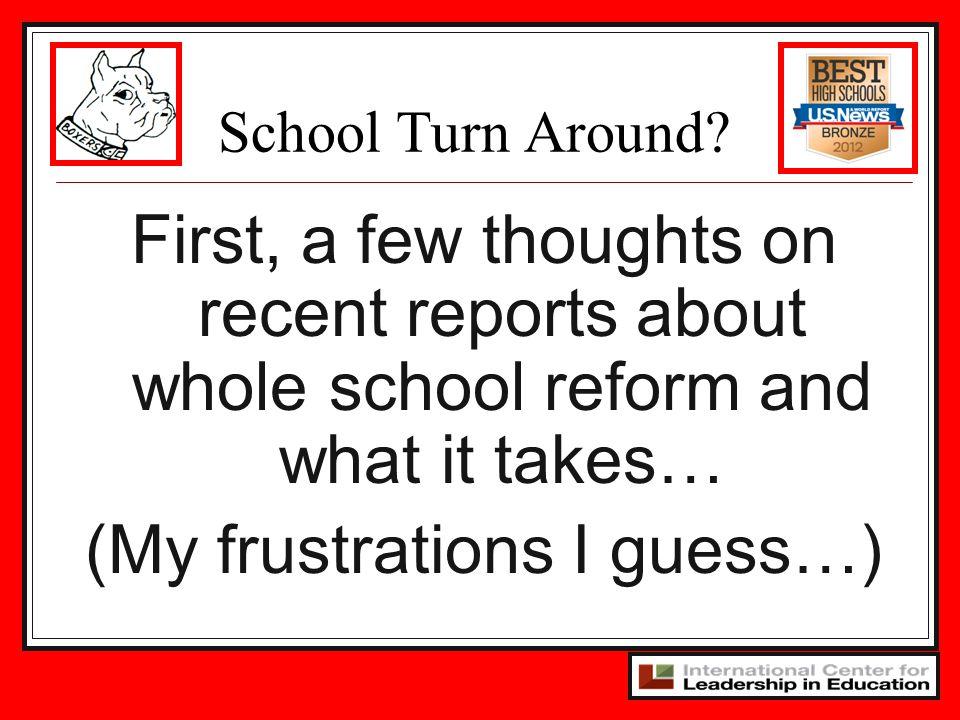 School Turn Around.