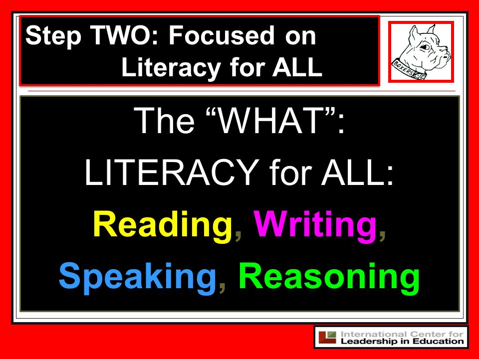 Reading, Writing, Speaking, Reasoning