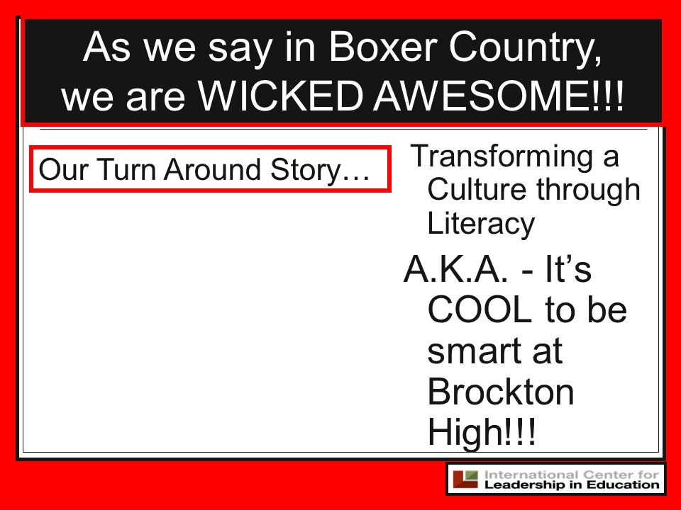 As we say in Boxer Country,