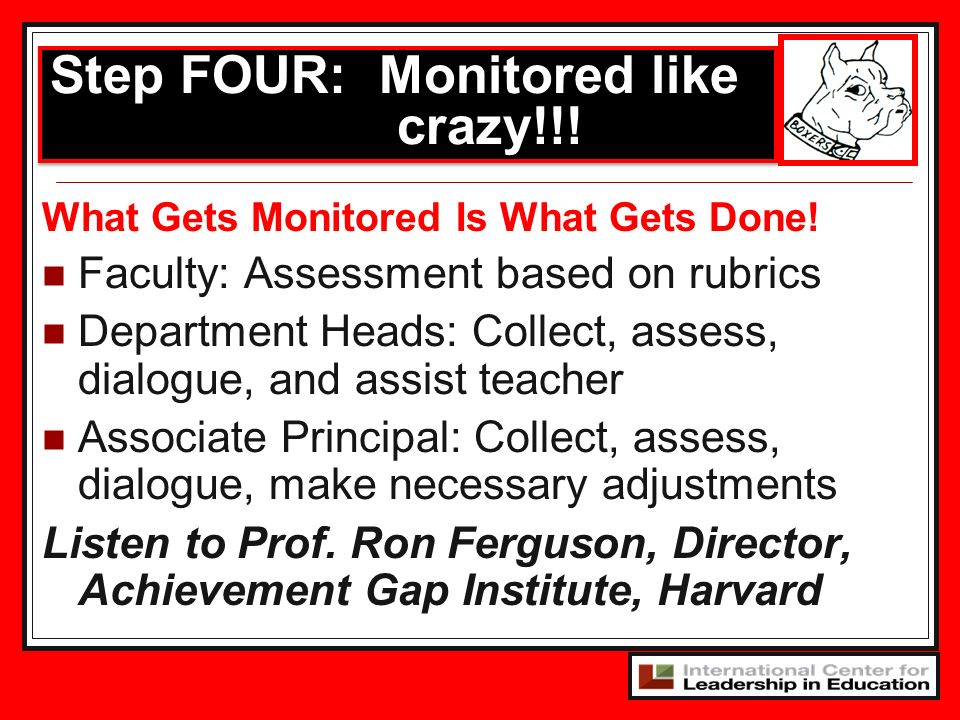 Step FOUR: Monitored like crazy!!!