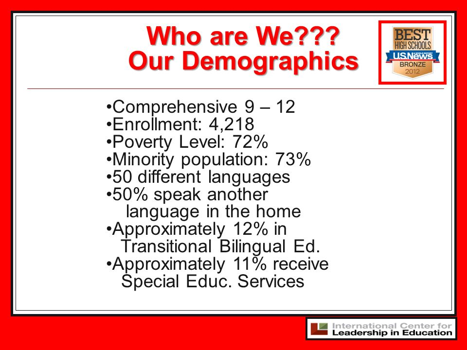 Who are We Our Demographics