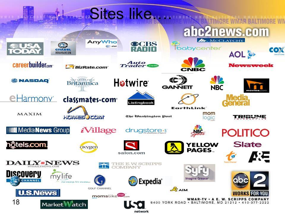 Sites like…. 18 18