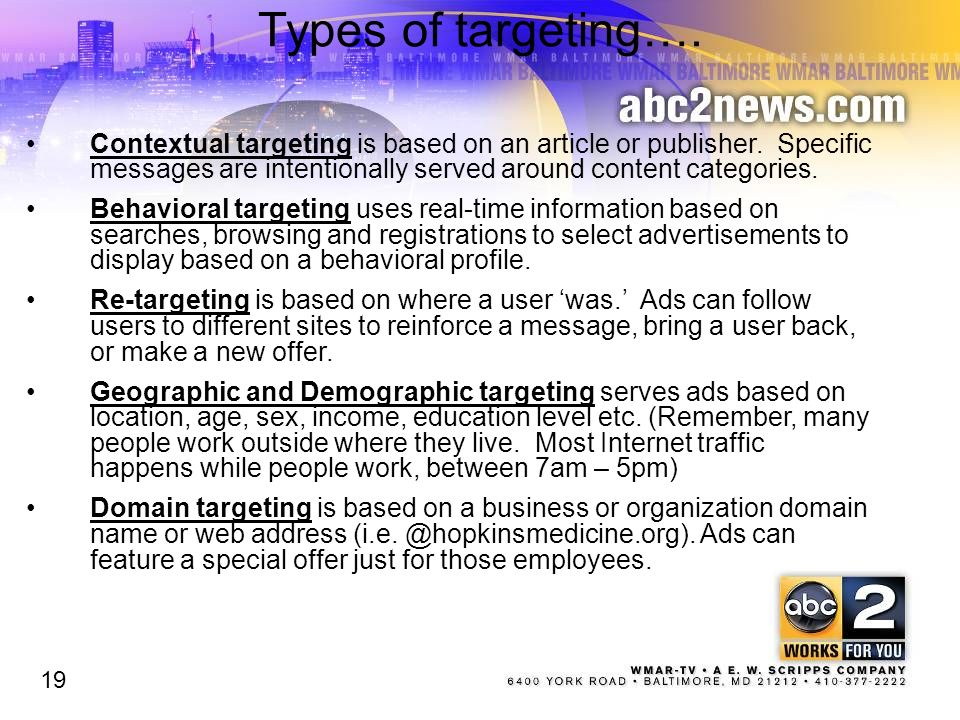 Types of targeting….