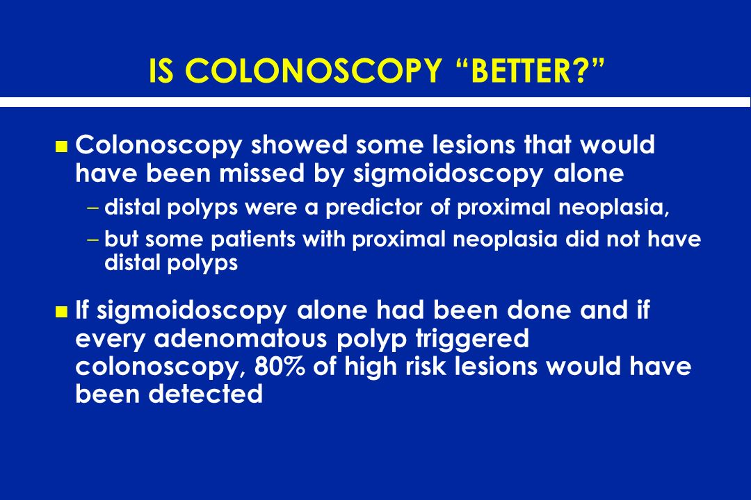 IS COLONOSCOPY BETTER