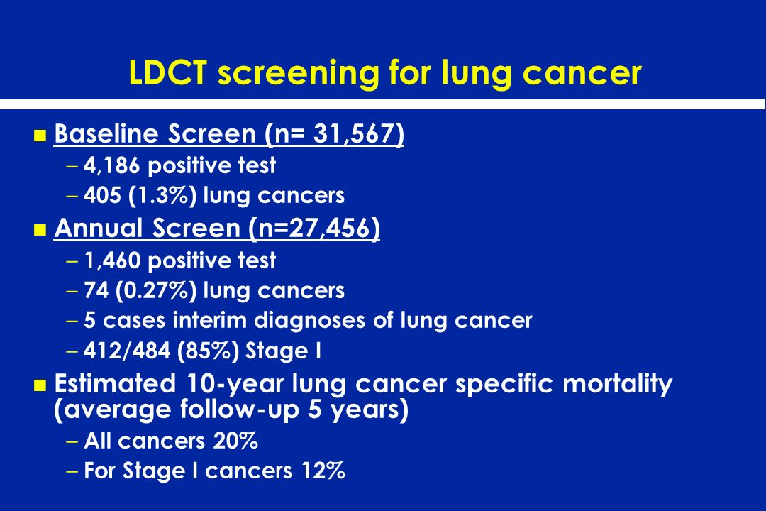 LDCT screening for lung cancer