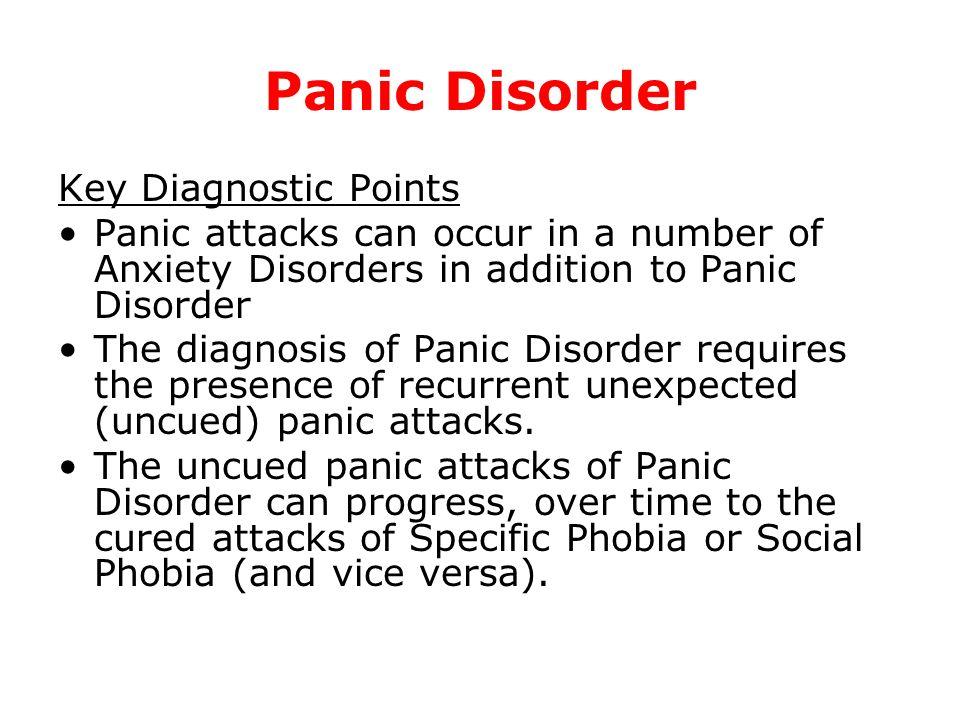 Panic Disorder Key Diagnostic Points
