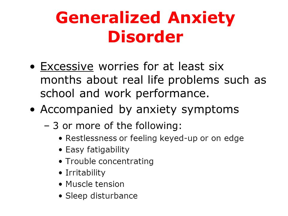 Dating with generalized anxiety disorder