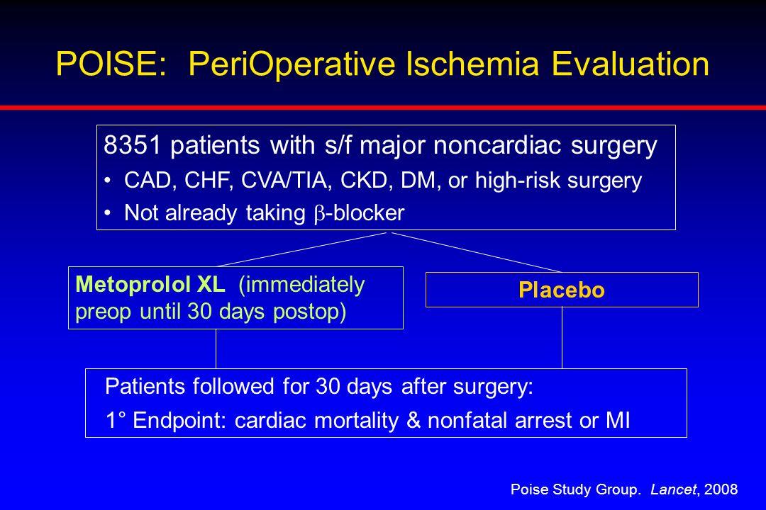 POISE: PeriOperative Ischemia Evaluation