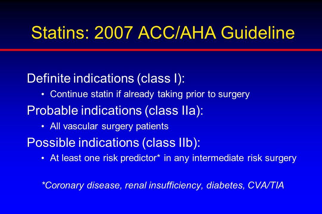 Statins: 2007 ACC/AHA Guideline