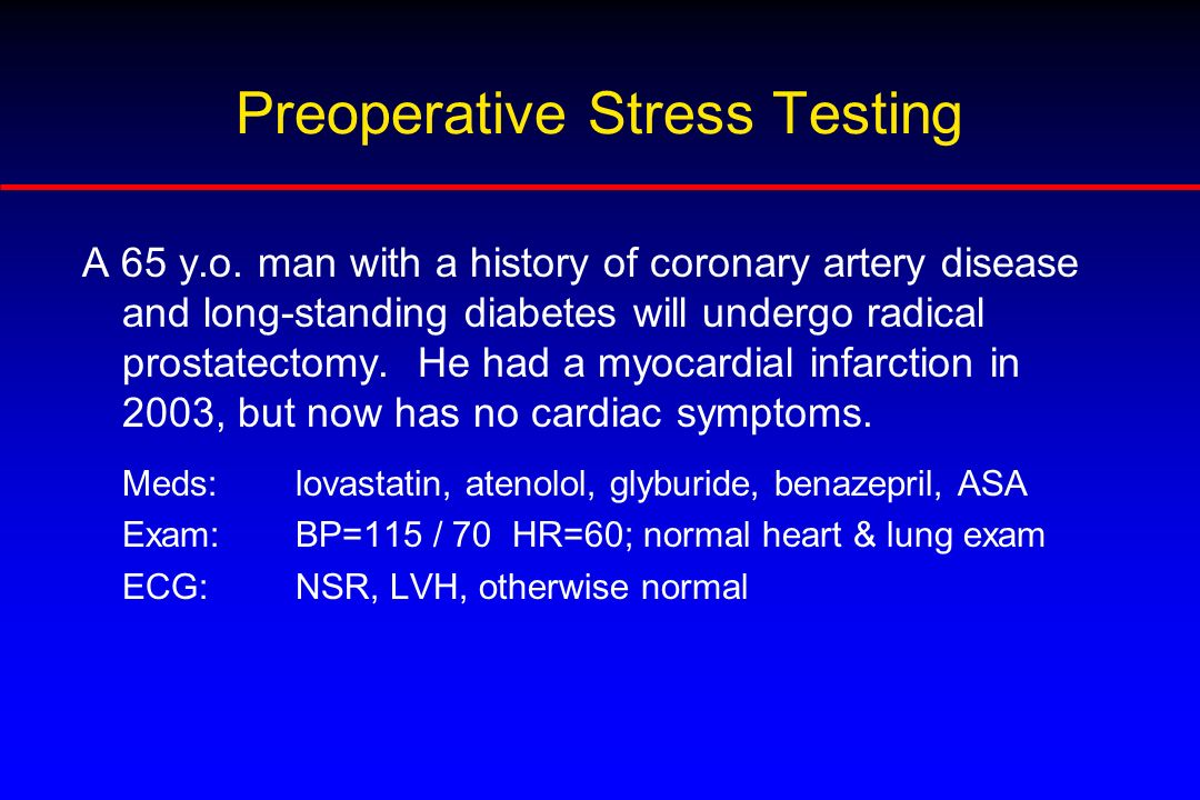 Preoperative Stress Testing