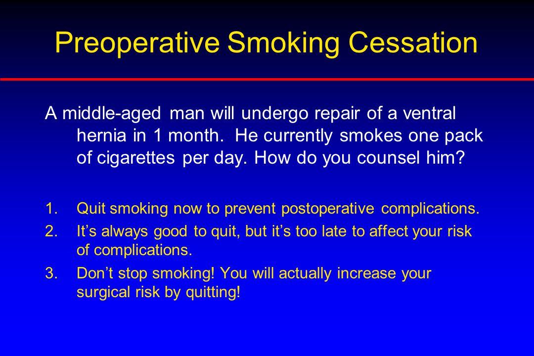 Preoperative Smoking Cessation
