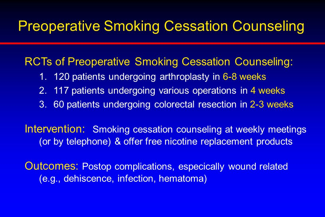 Preoperative Smoking Cessation Counseling