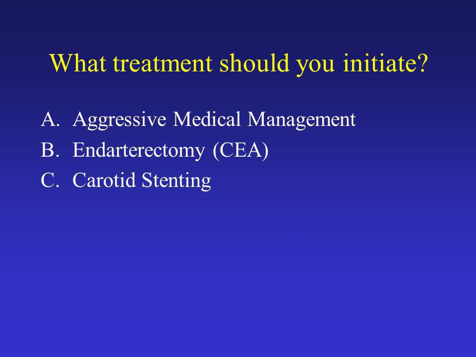 What treatment should you initiate