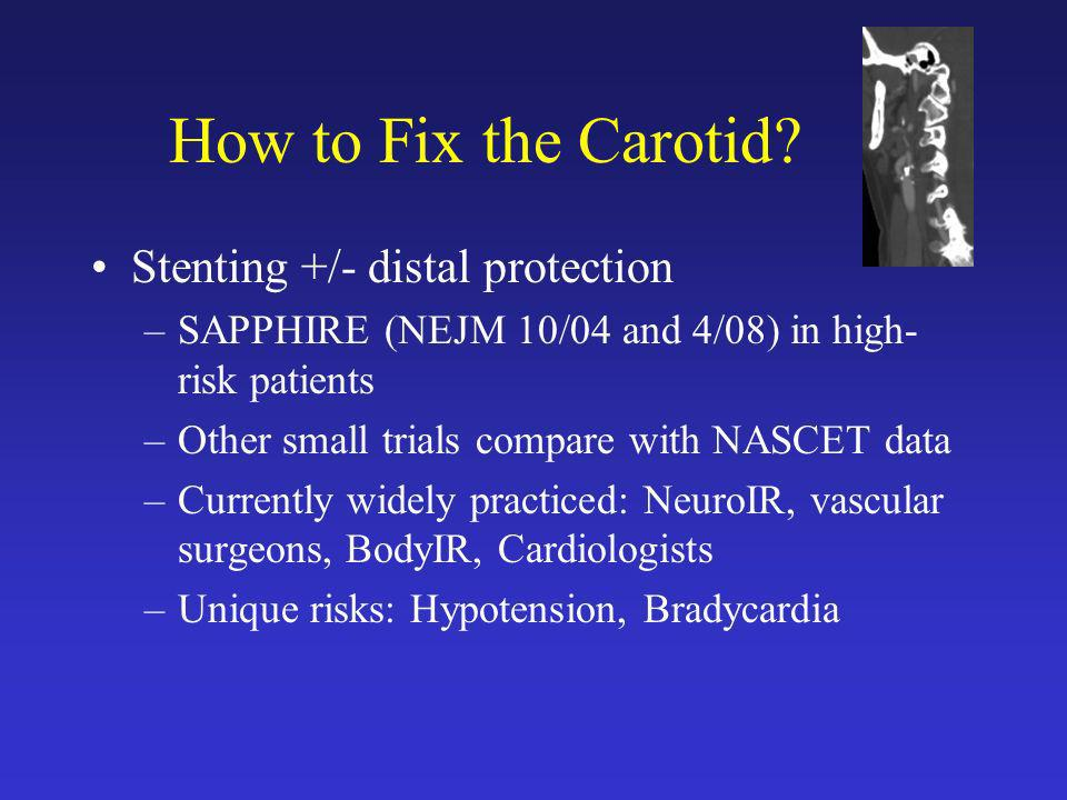How to Fix the Carotid Stenting +/- distal protection