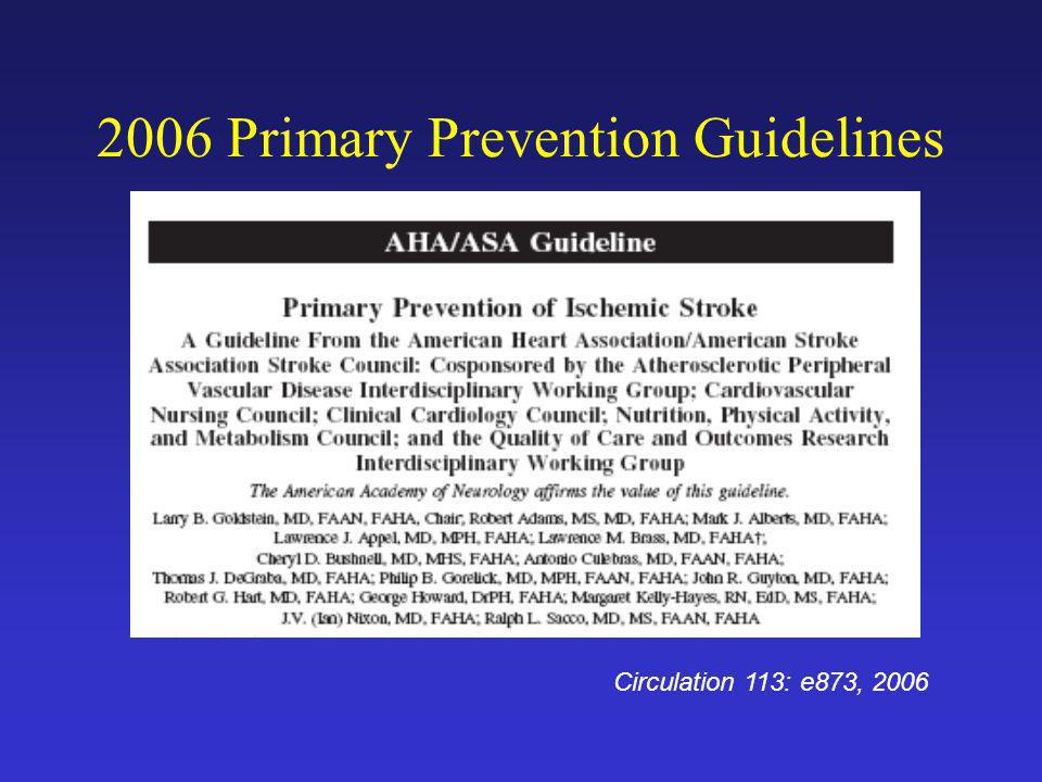 2006 Primary Prevention Guidelines