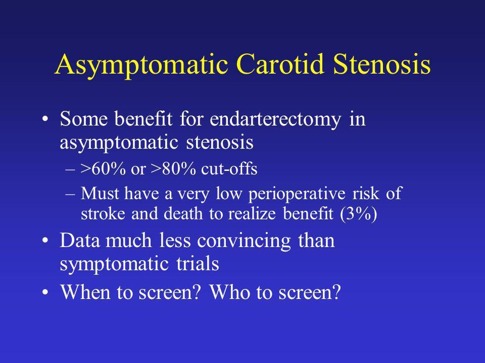 Asymptomatic Carotid Stenosis