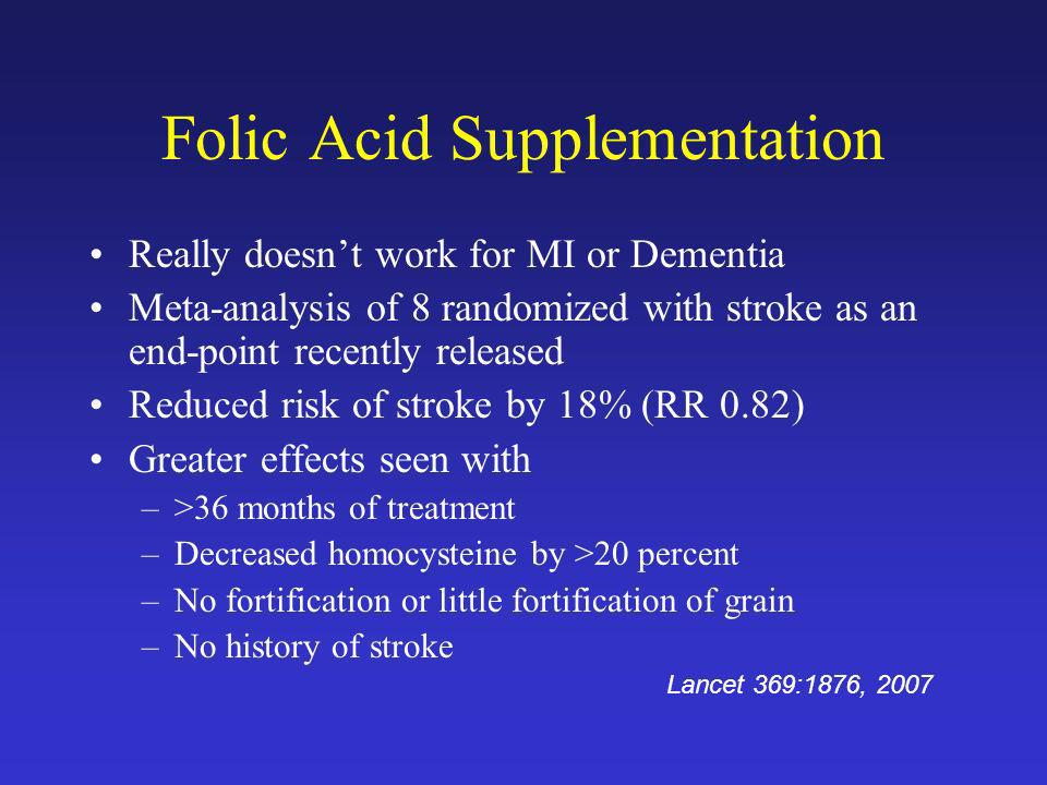 Folic Acid Supplementation