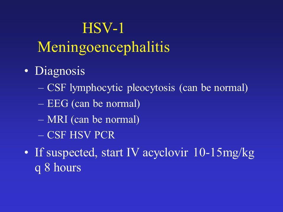 HSV-1 Meningoencephalitis